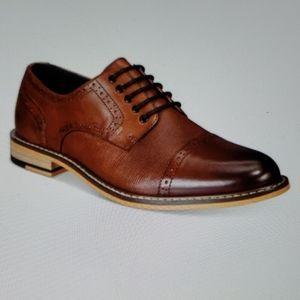Men's parker leather cap-toe